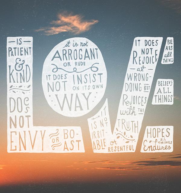 Love endures all things 1 corinthians 13:4-7